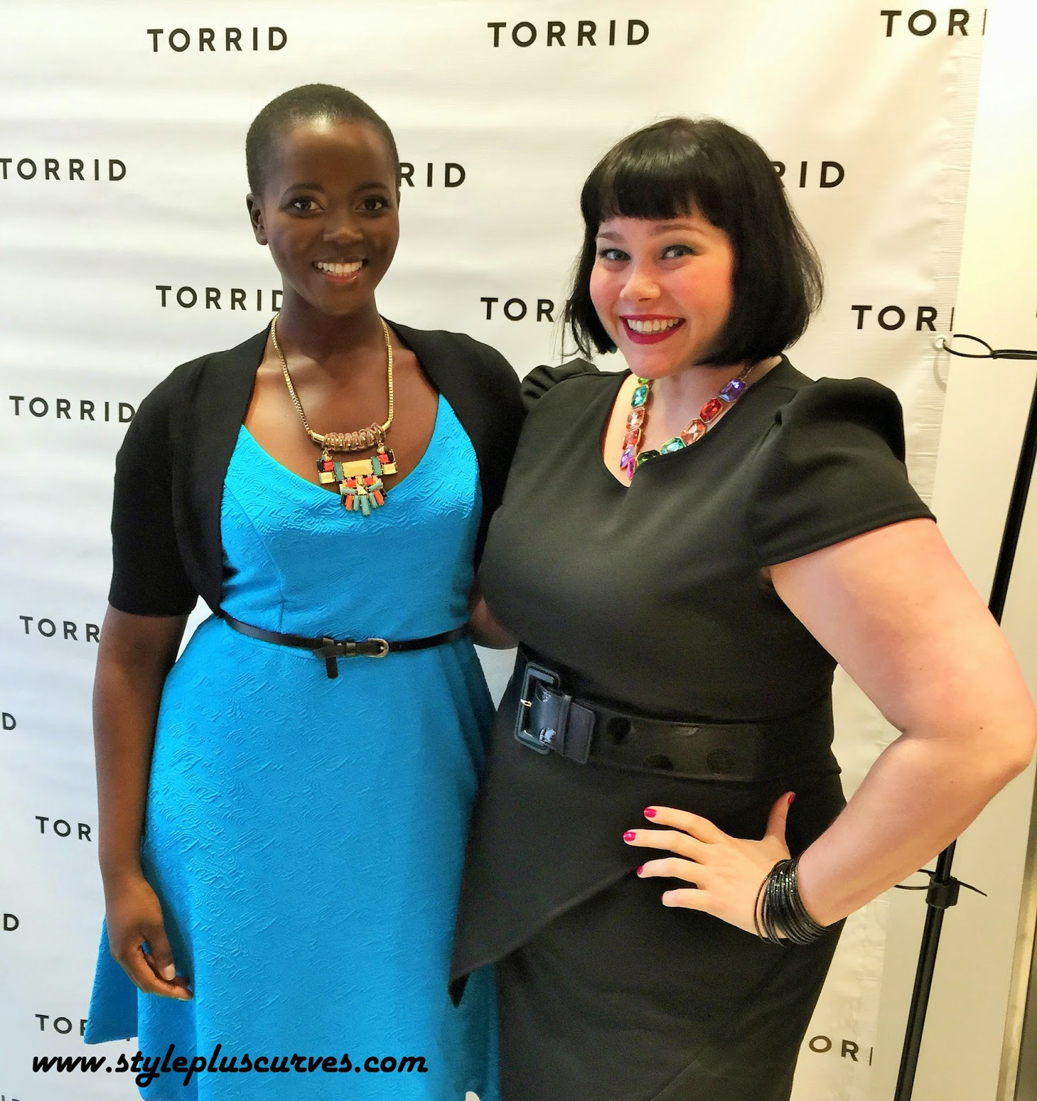 Amber from Style Plus Curves with Philomena Kwao at the Torrid on State Opening