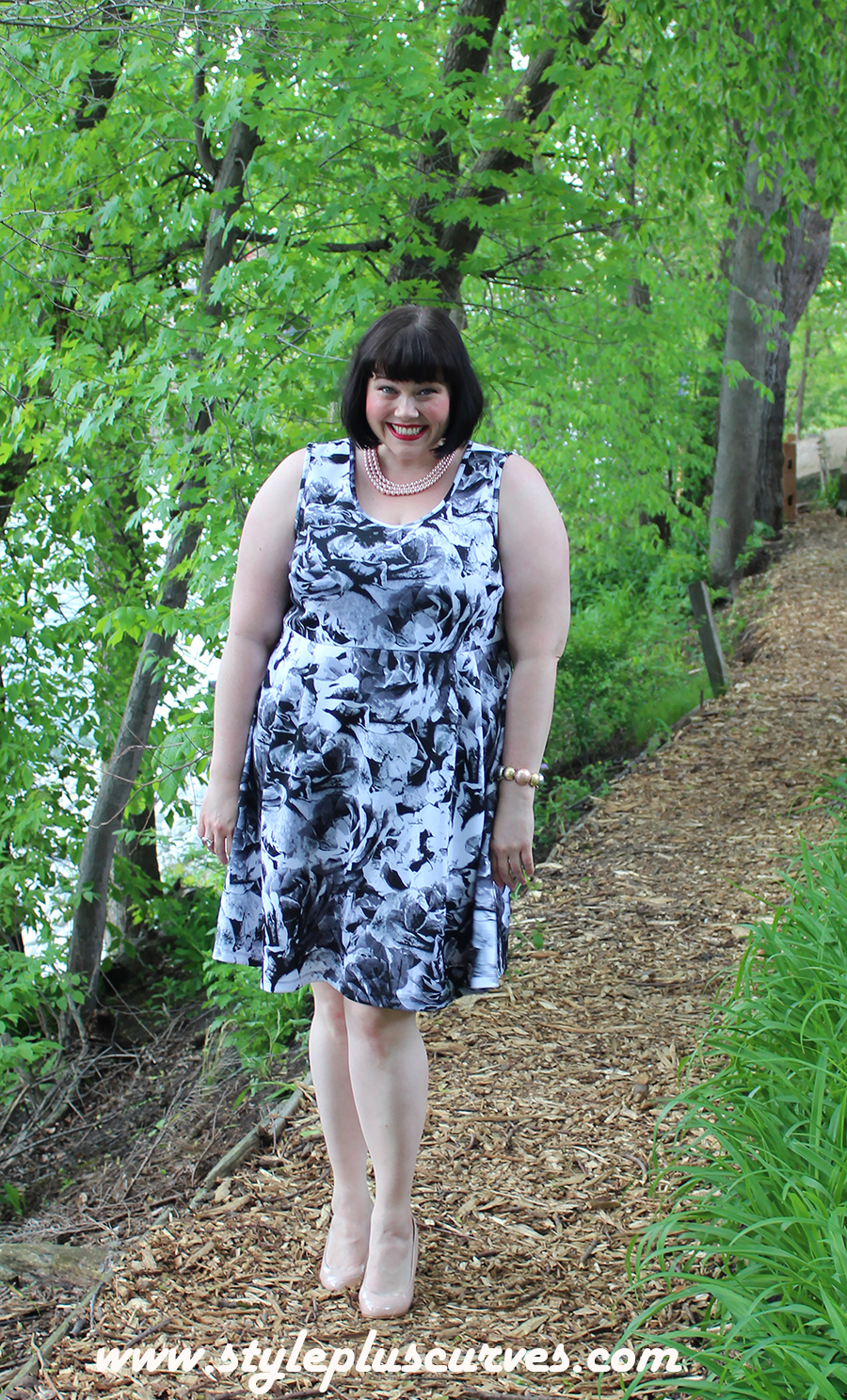 Style Plus Curves in Plus Size Floral Dress from Kohls