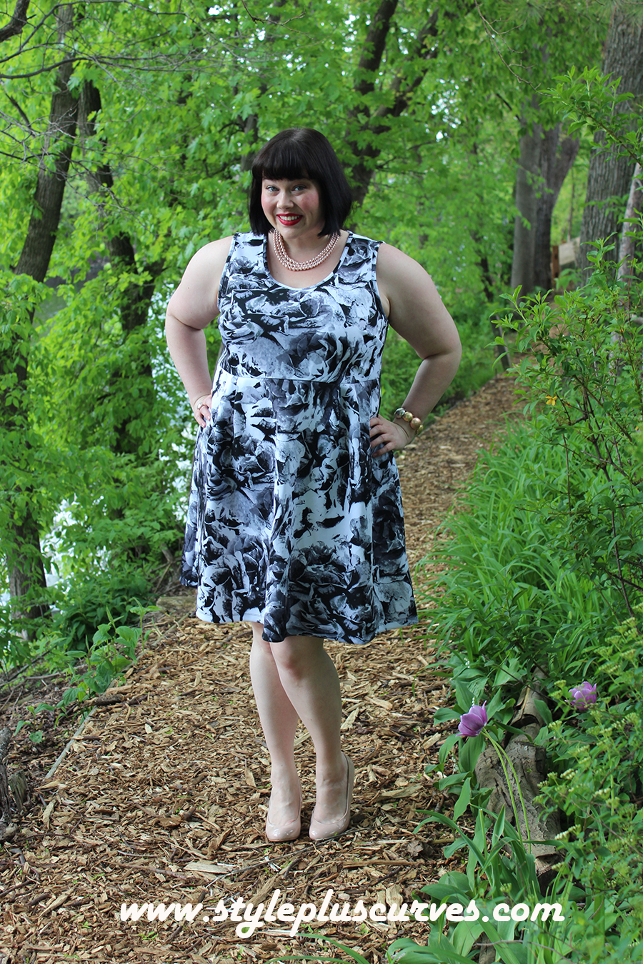 Plus Size Summer Essentials: The Floral Dress from Kohl\'s