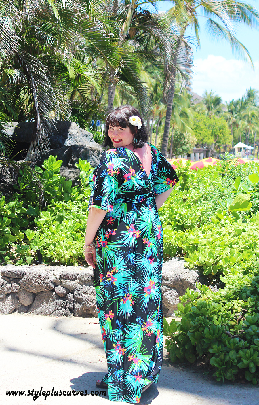 1bf53d56f97d7 plus size vacation dress in tropical print from Kiyonna