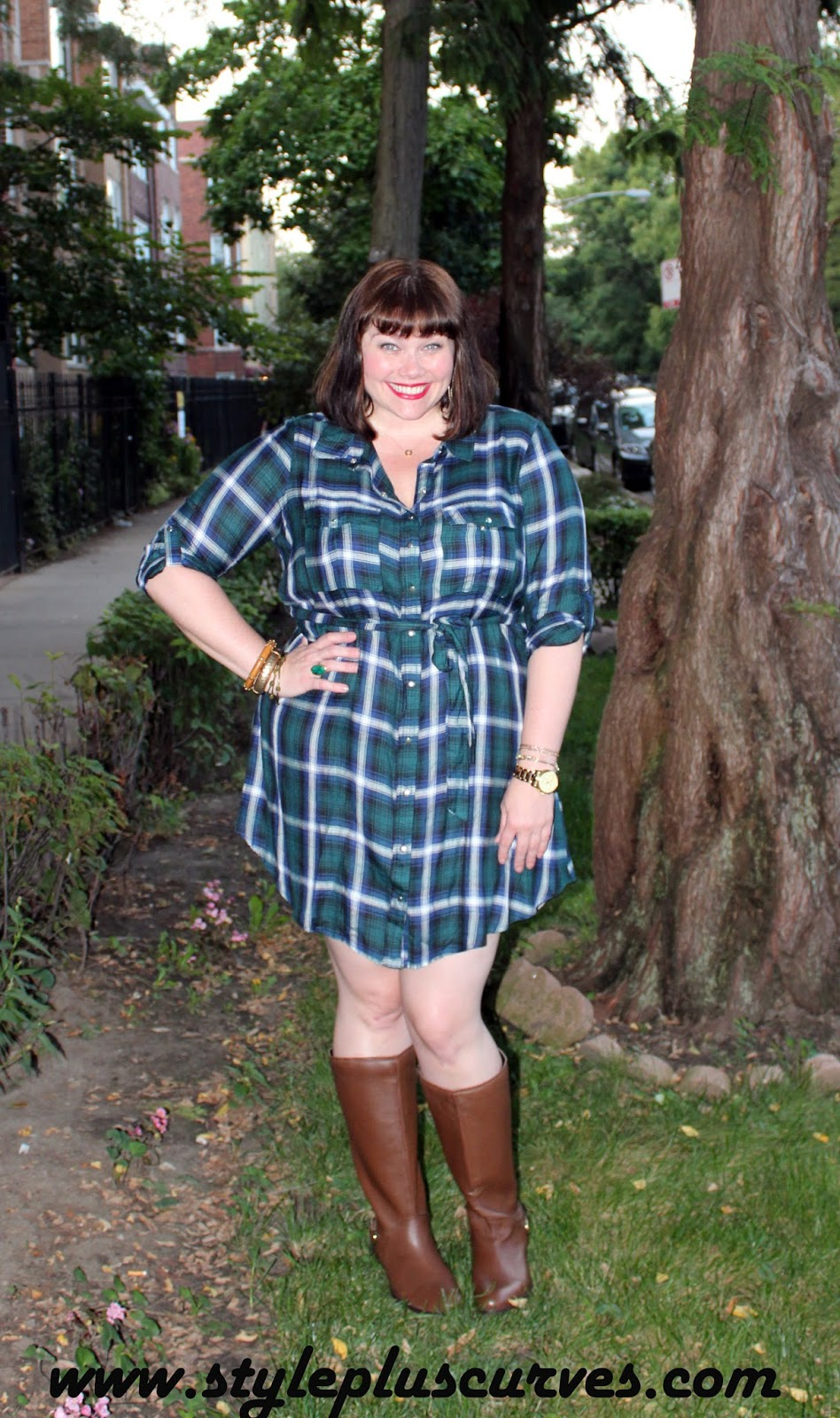 Yours Clothing Plaid Tunic for Fall Fashion