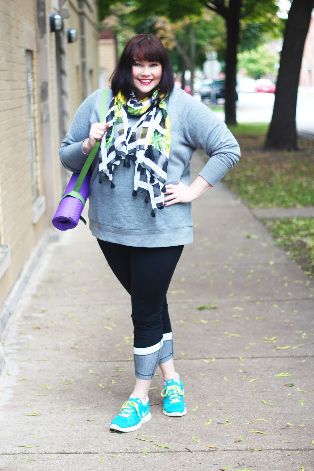 fbc181cdb50 Plus Size Blogger Amber from Style Plus Curves in Plus Size Workout Wear  from Kohl s