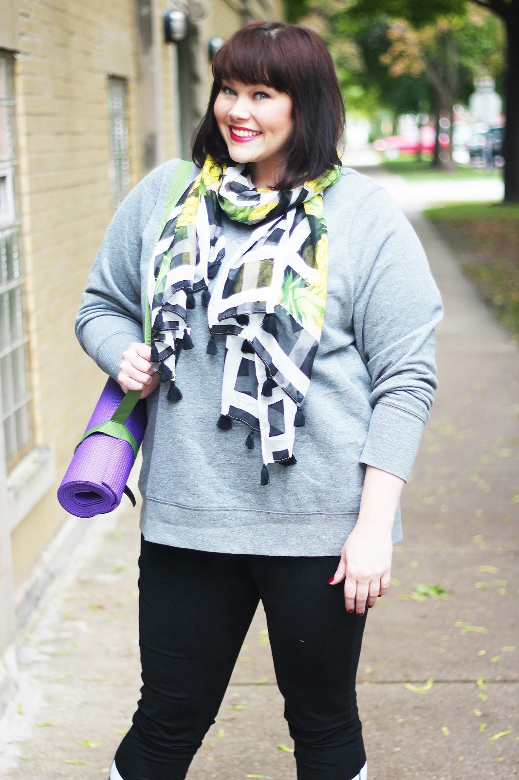 Plus Size Blogger Amber from Style Plus Curves in Plus Size Workout Wear from Kohl's