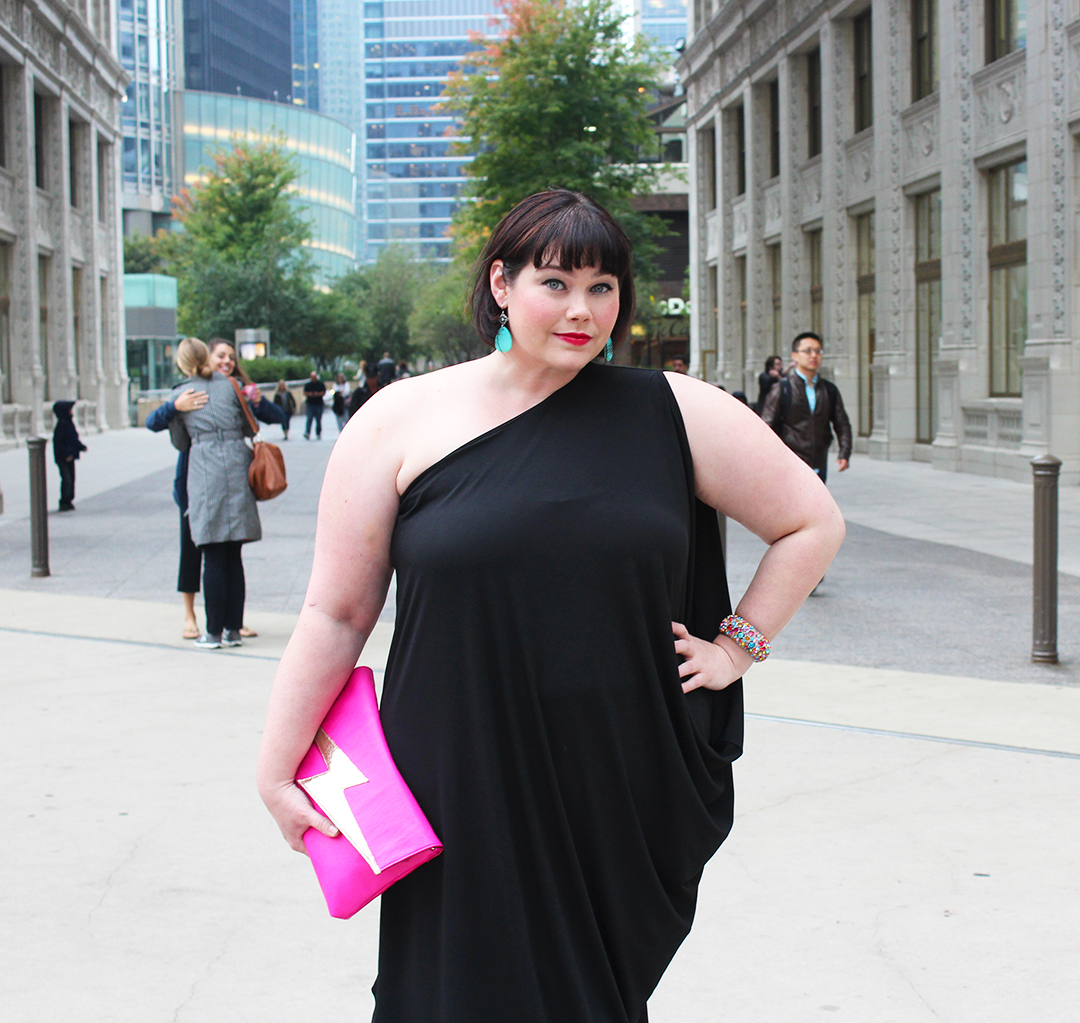 Feeling Like a Goddess in this Plus Size Draped Maxi Dress