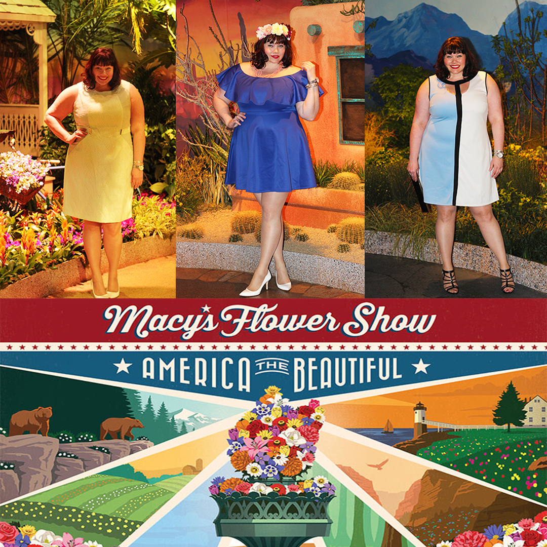 Macy's Flower Show with Plus Size Fashion Blogger Amber from Style Plus Curves