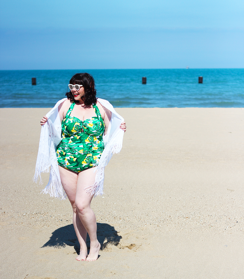 Lemons on the Beach: Plus Size Swimsuit featuring Forever ...