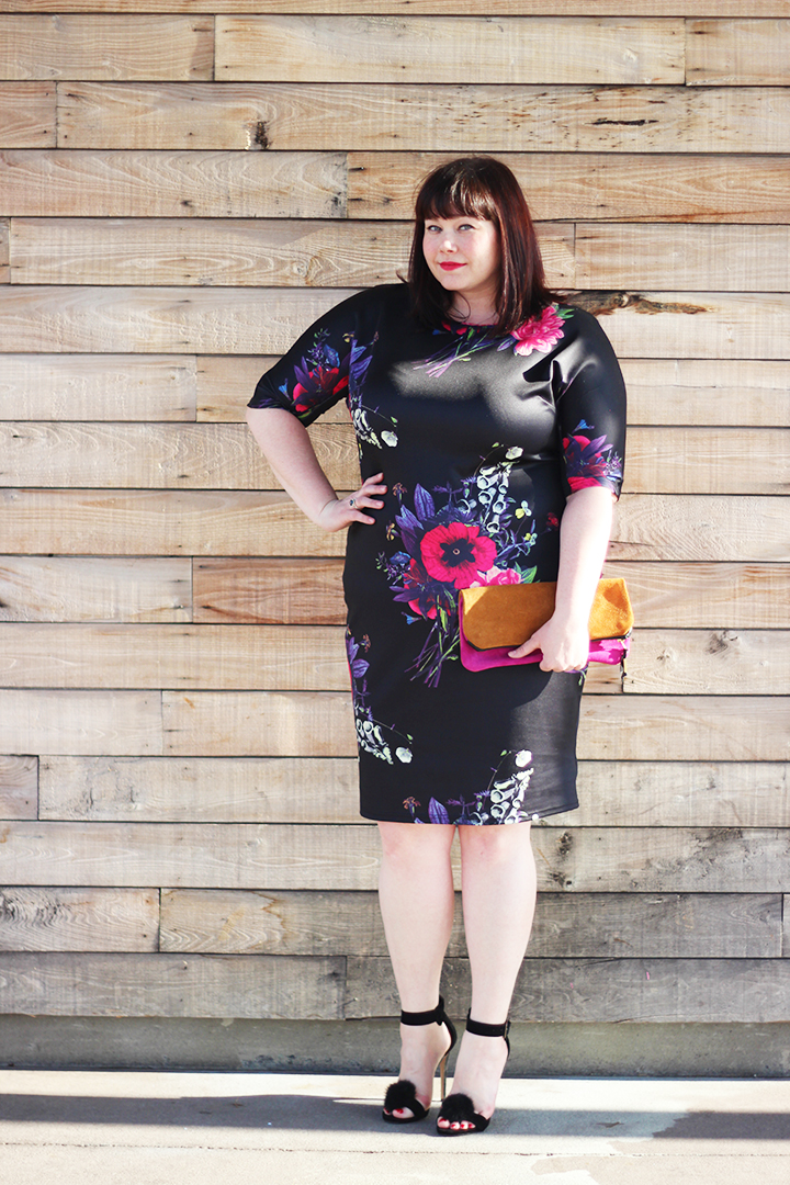 Dark Floral Obsession feat AX Paris Plus Size Midi Dress from Simply Be