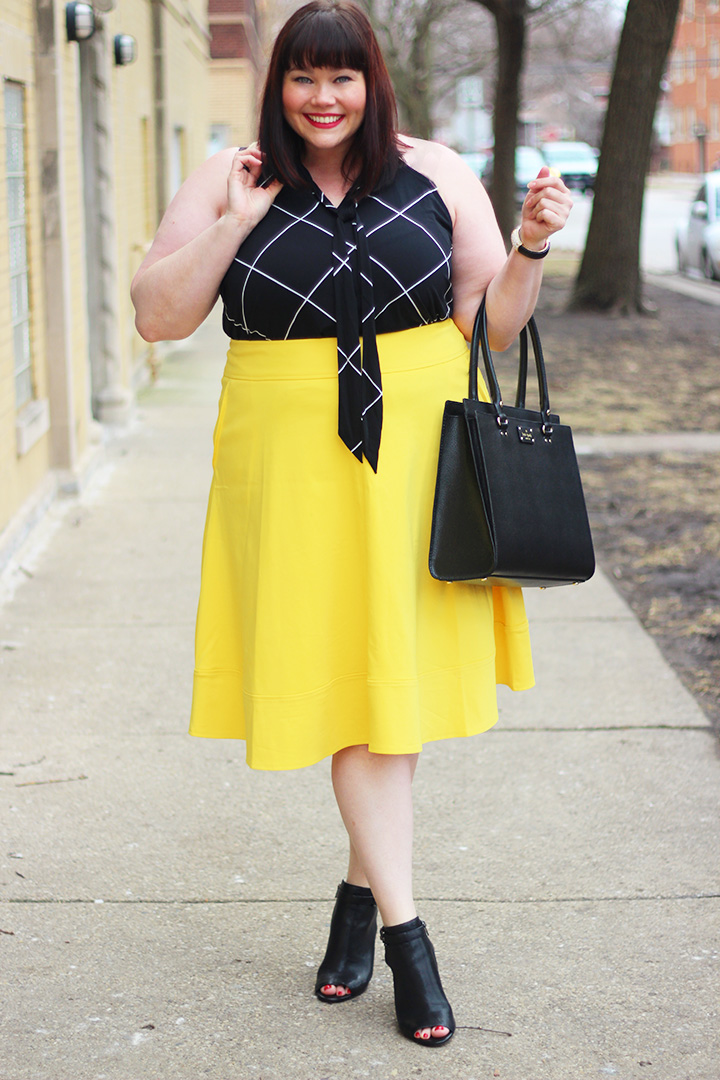 yellow skirt archives | style plus curves - a chicago plus size