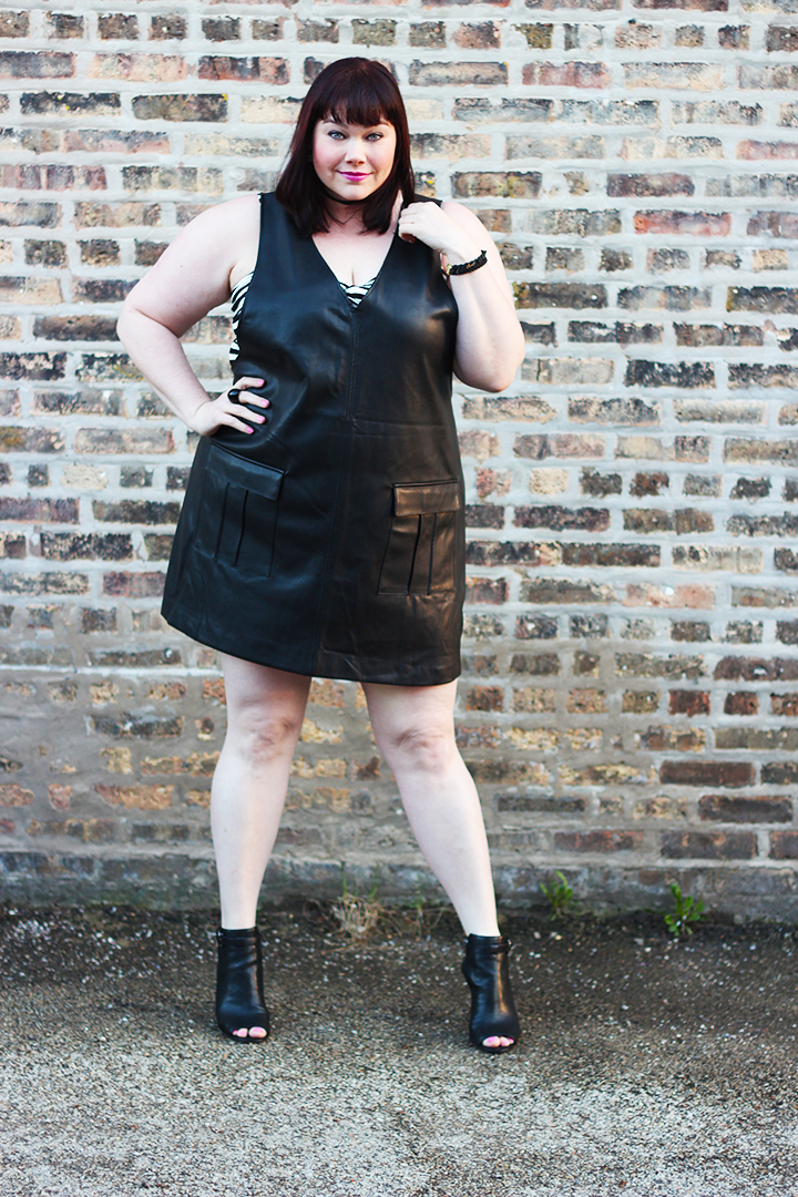 leather dress Archives | Style Plus Curves - A Chicago Plus ...