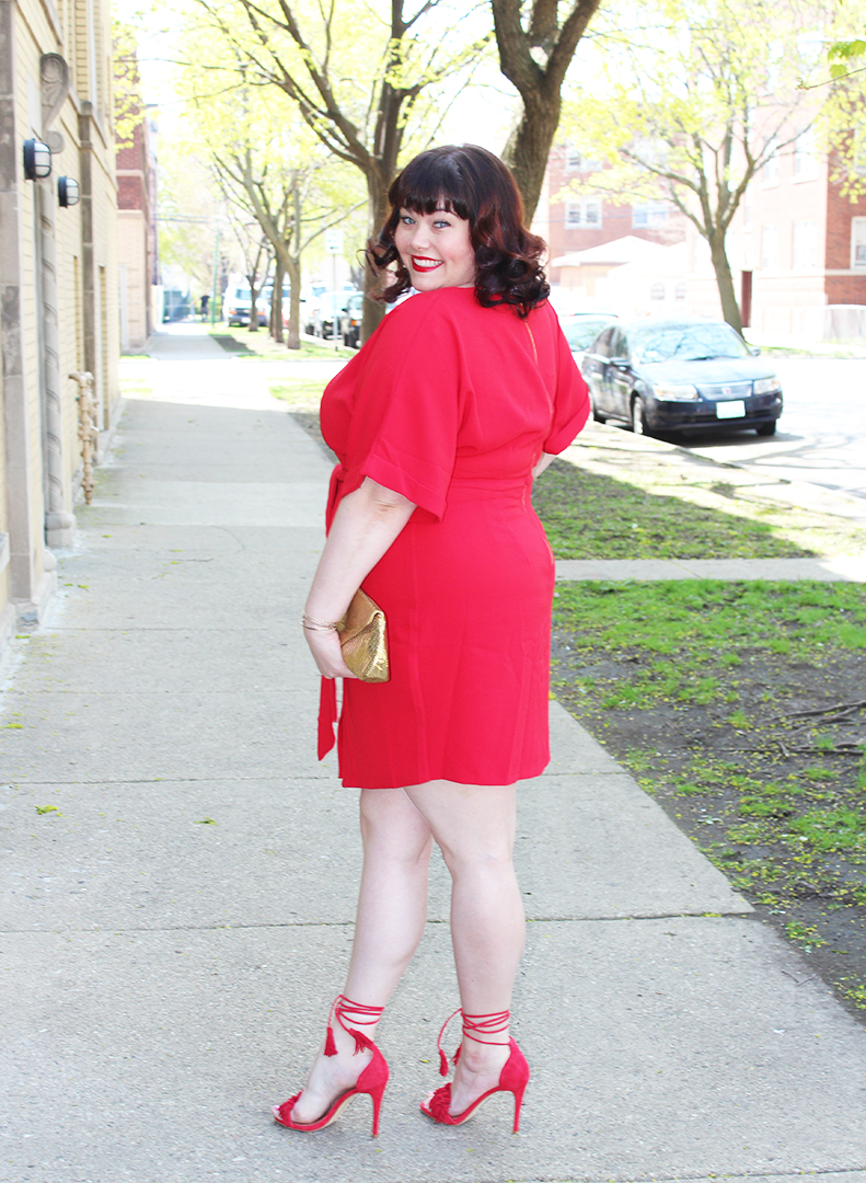 5cc193aefbd Plus Size Blogger Amber from Style Plus Curves in a Red Plus Size Dress  from Simply