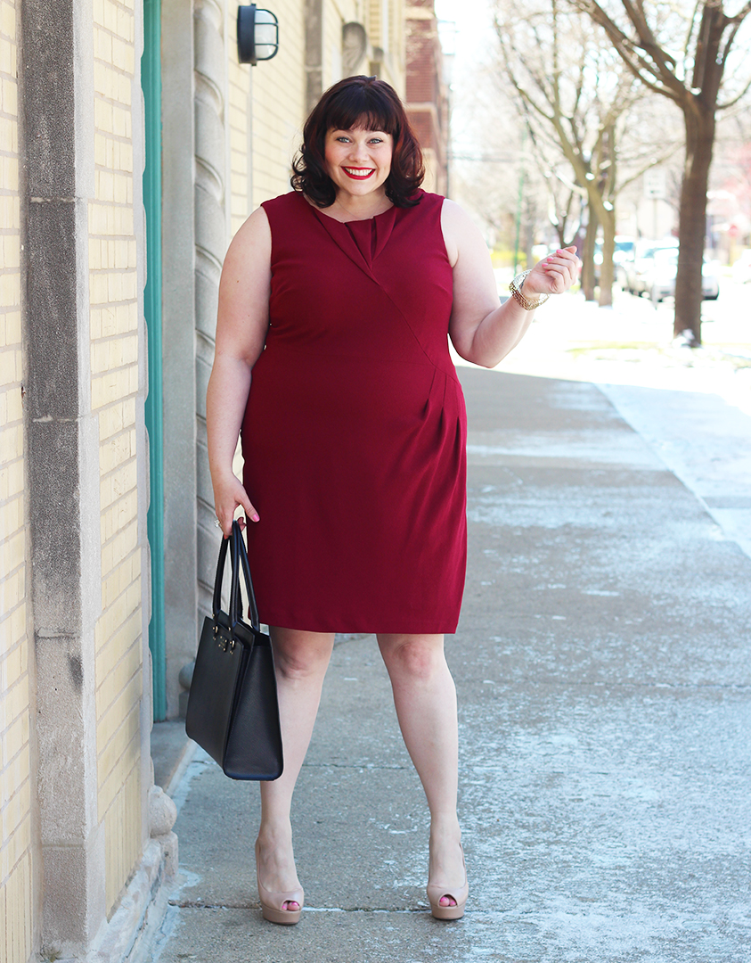 GIRLBOSS Style: Red Origami Sheath From Adrianna Papell