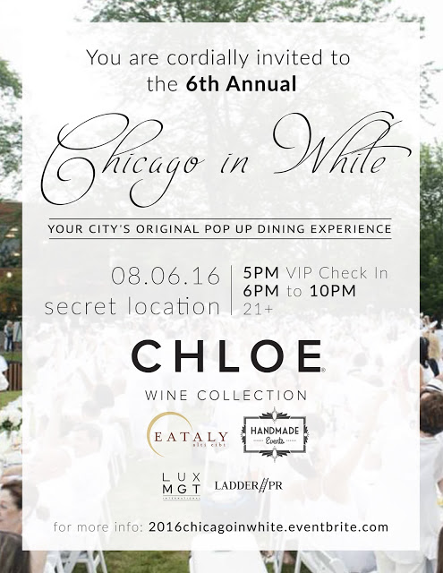 Chicago in White Dinner 2016 Official Invite