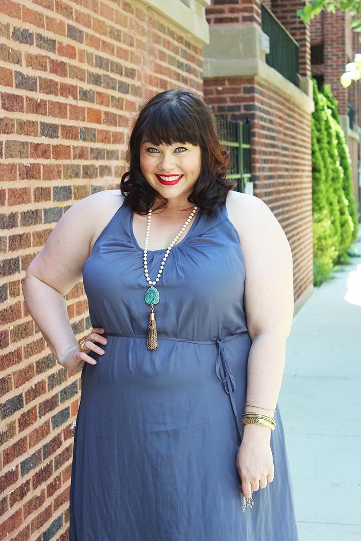 City Chic Blue Plus Size Maxi Dress
