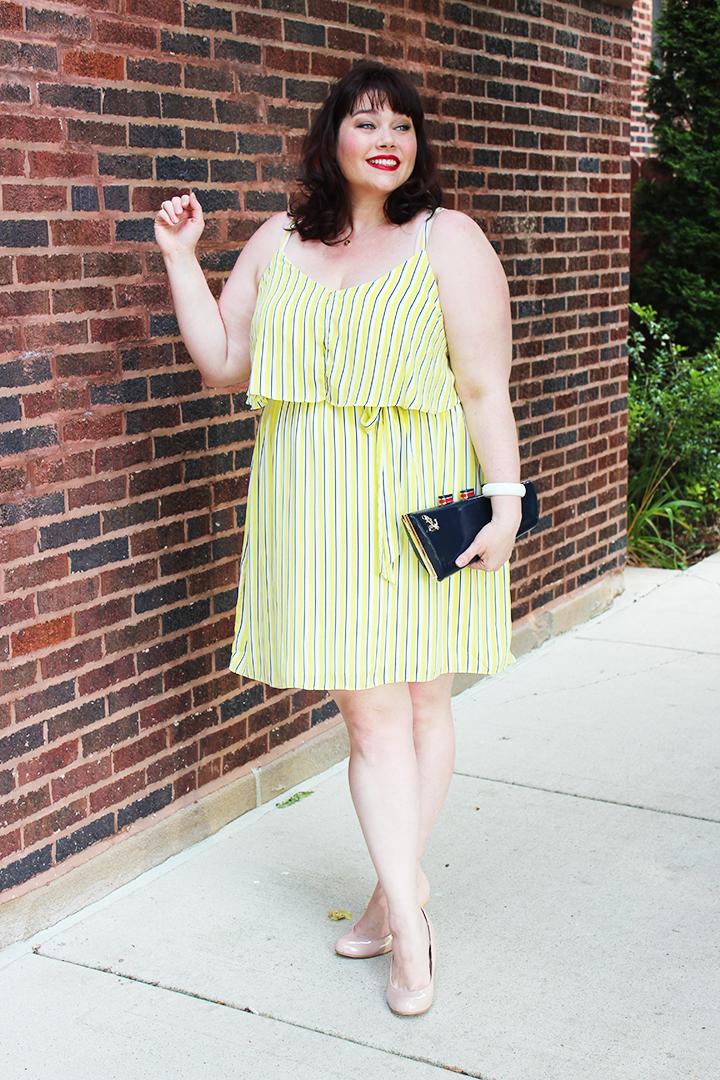 plus size summer style: city chic yellow plus size dress