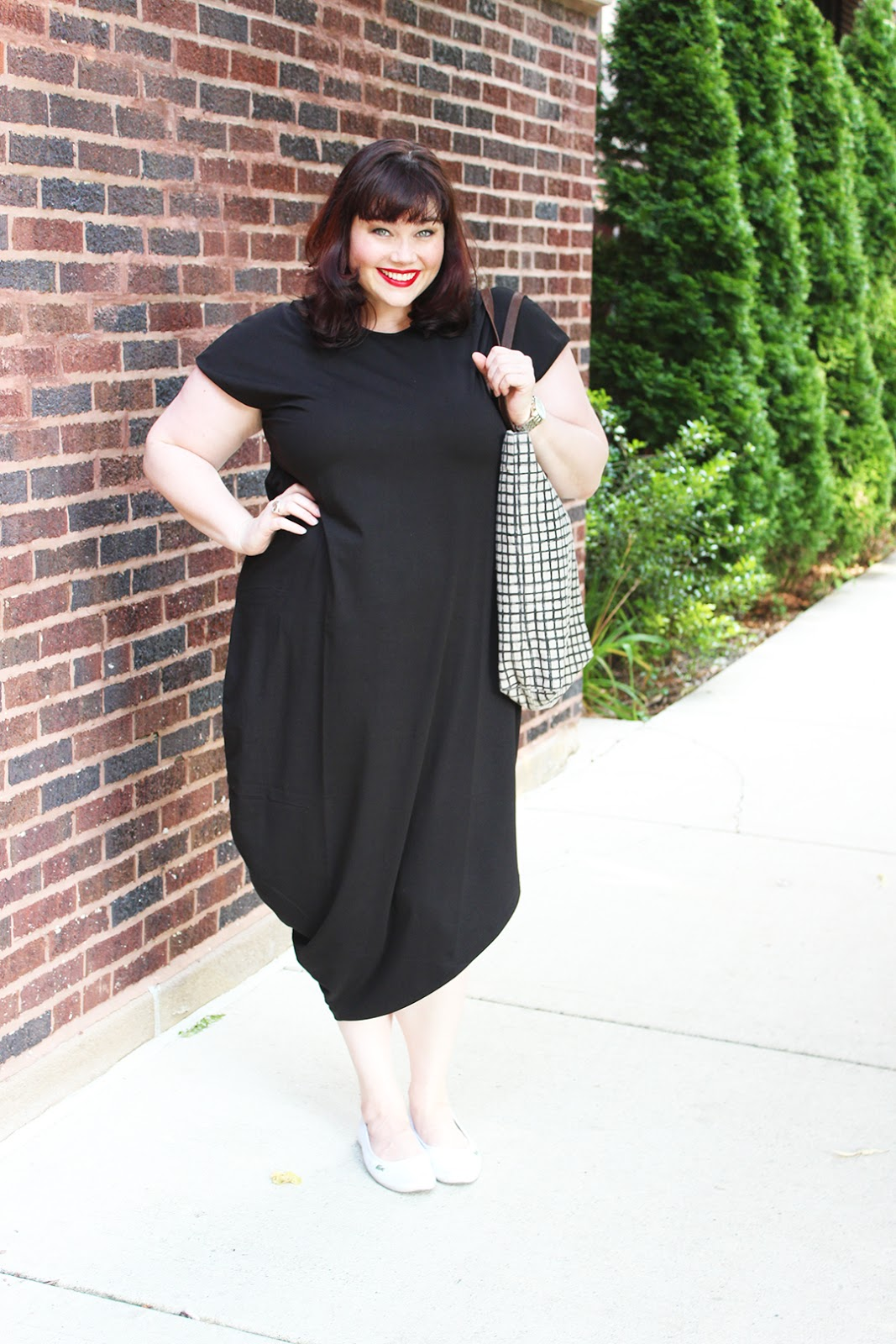 dcf41753aba Plus Size Blogger Amber from Style Plus Curves wearing the Universal  Standard Geneva Dress in Black