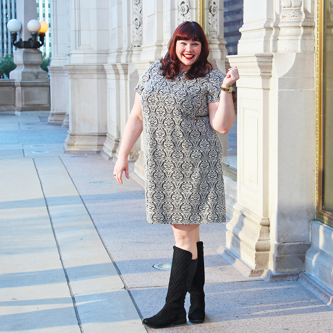 Fall Fashion Featuring London Times Curve Ophelia Dress