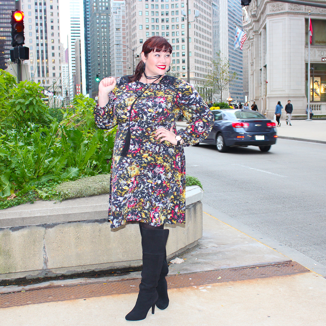 Perfect Plus Size Fall Print Dress from London Times Curve