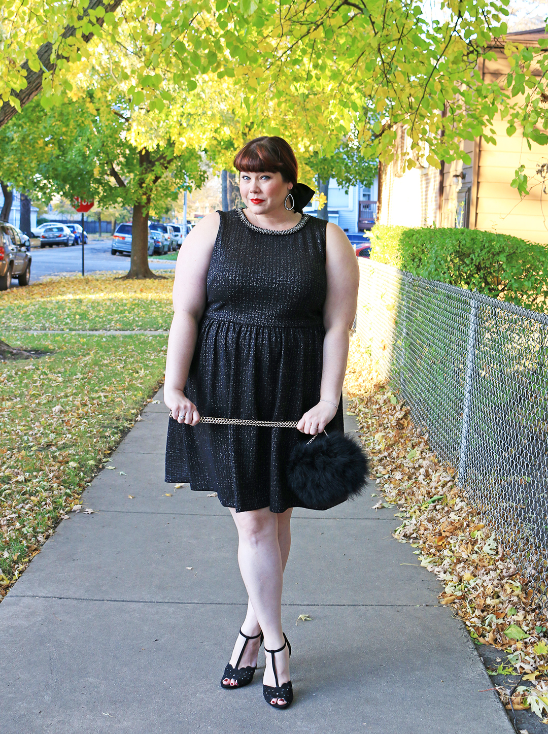 Embellished Plus Size LBD from London Times Curve