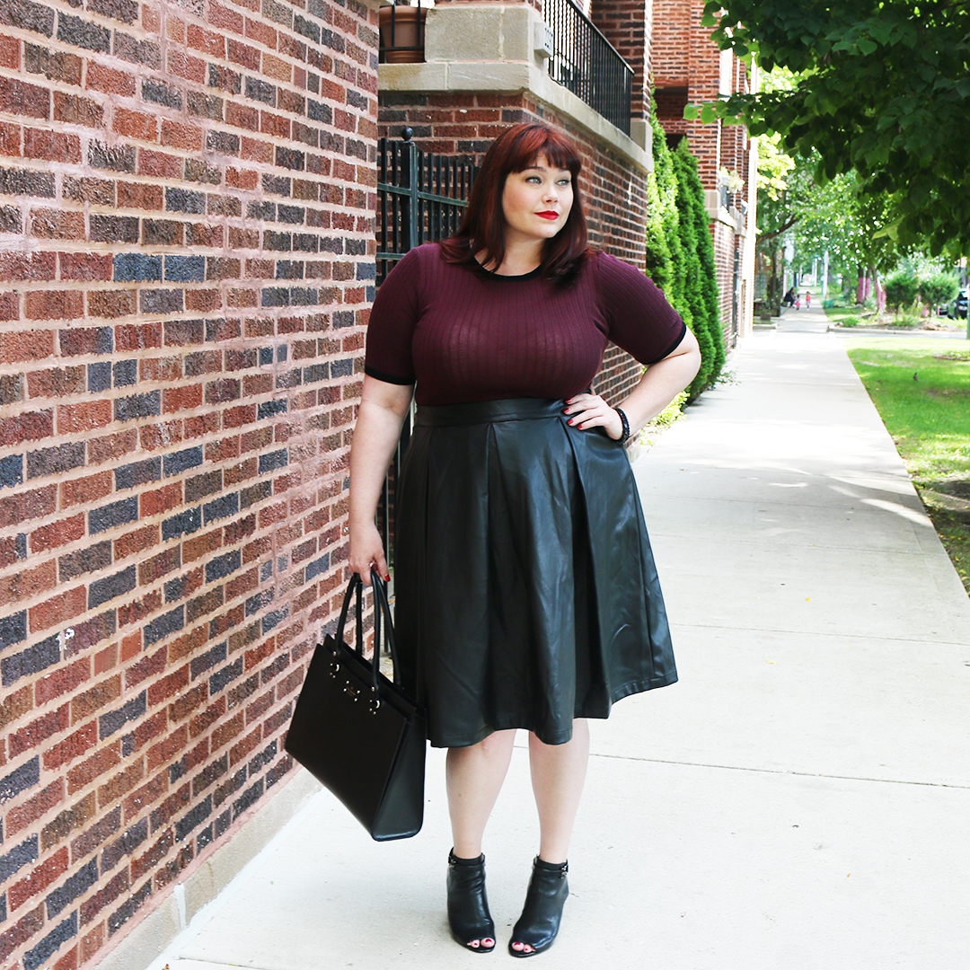 Target Who What Wear Plus Size Leather Skirt