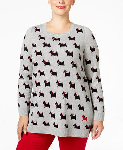 Plus Size Scottie Dog Sweater from Macy's