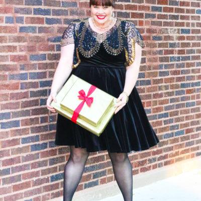 Plus Size Holiday Look: Velvet Dress from Torrid