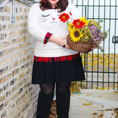 Plus Size Holiday Looks from Torrid: Cat Sweater