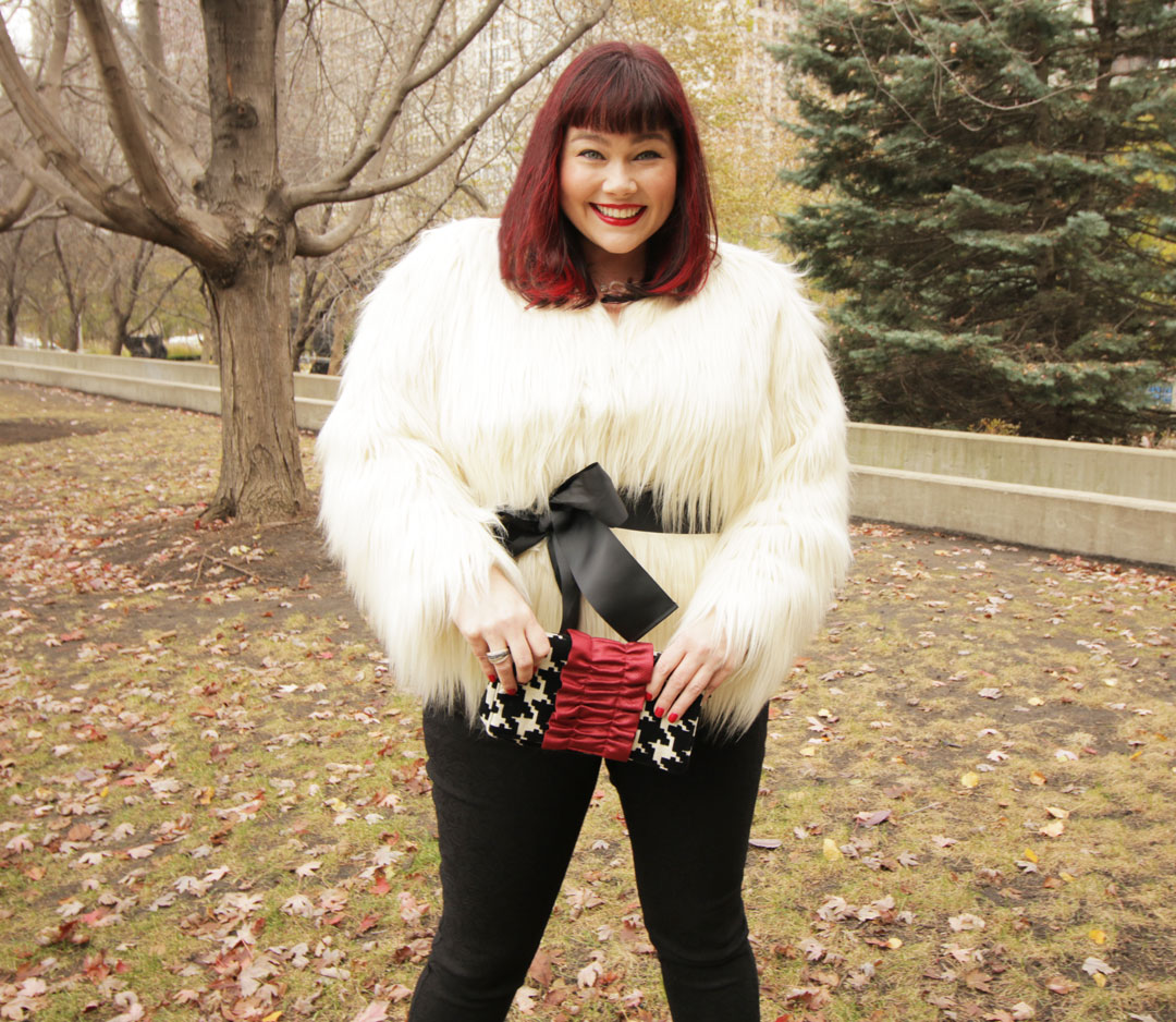 Fashion Find: White Faux Fur Jacket from Lane Bryant