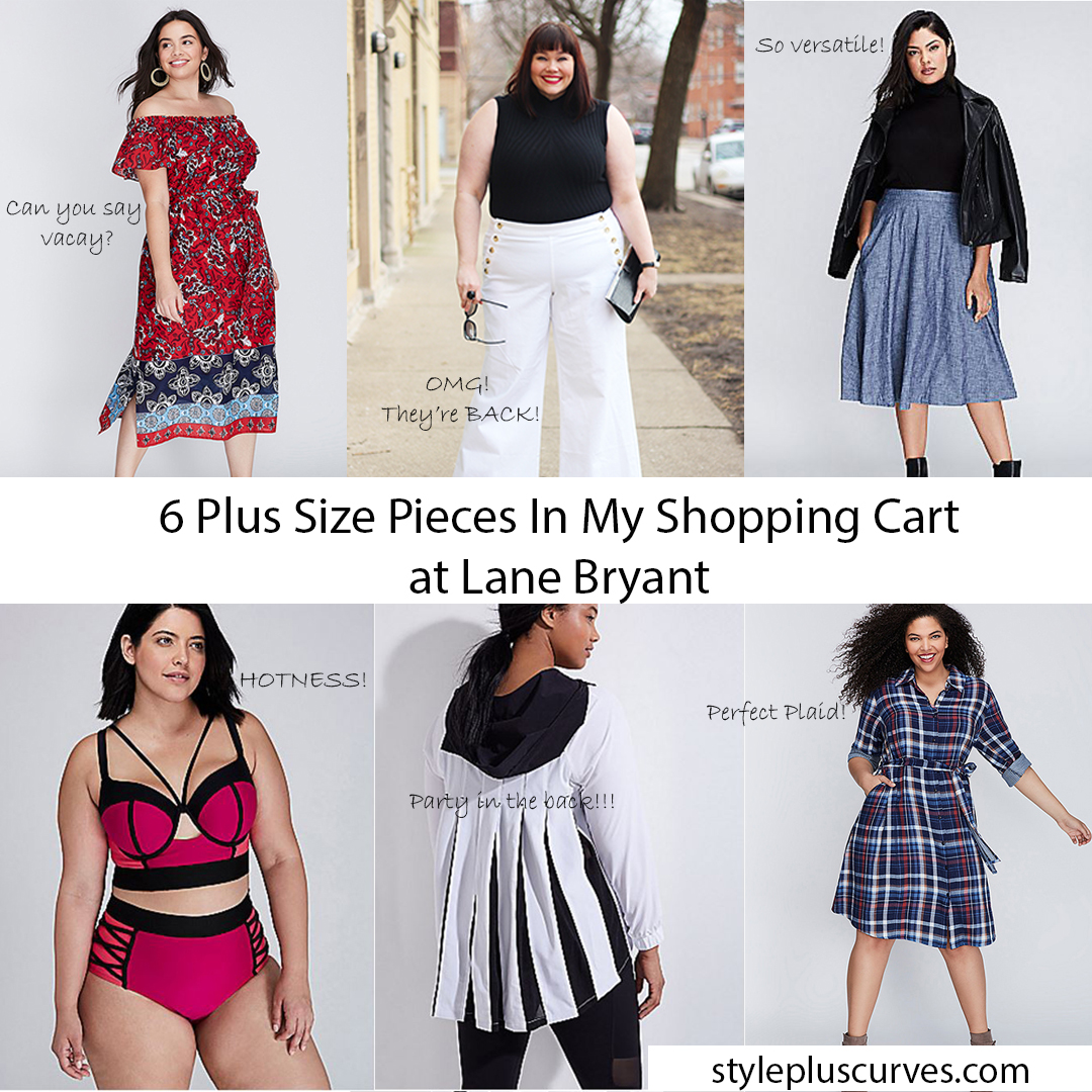 6 Plus Size Pieces In My Shopping Cart at Lane Bryant – January
