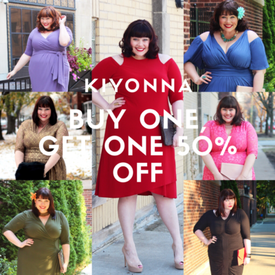 Kiyonna Buy One, Get One 50% Off Sale January 2017