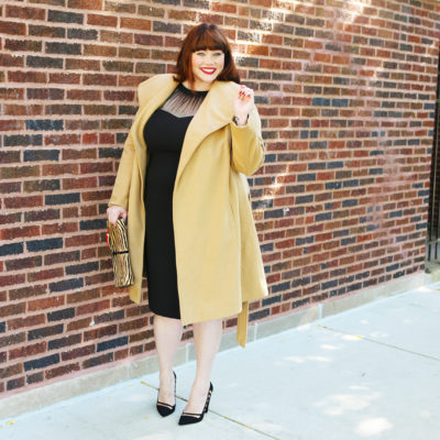 Maggy London Illusion Sheath Dress on Plus Size Blogger Amber from Style Plus Curves