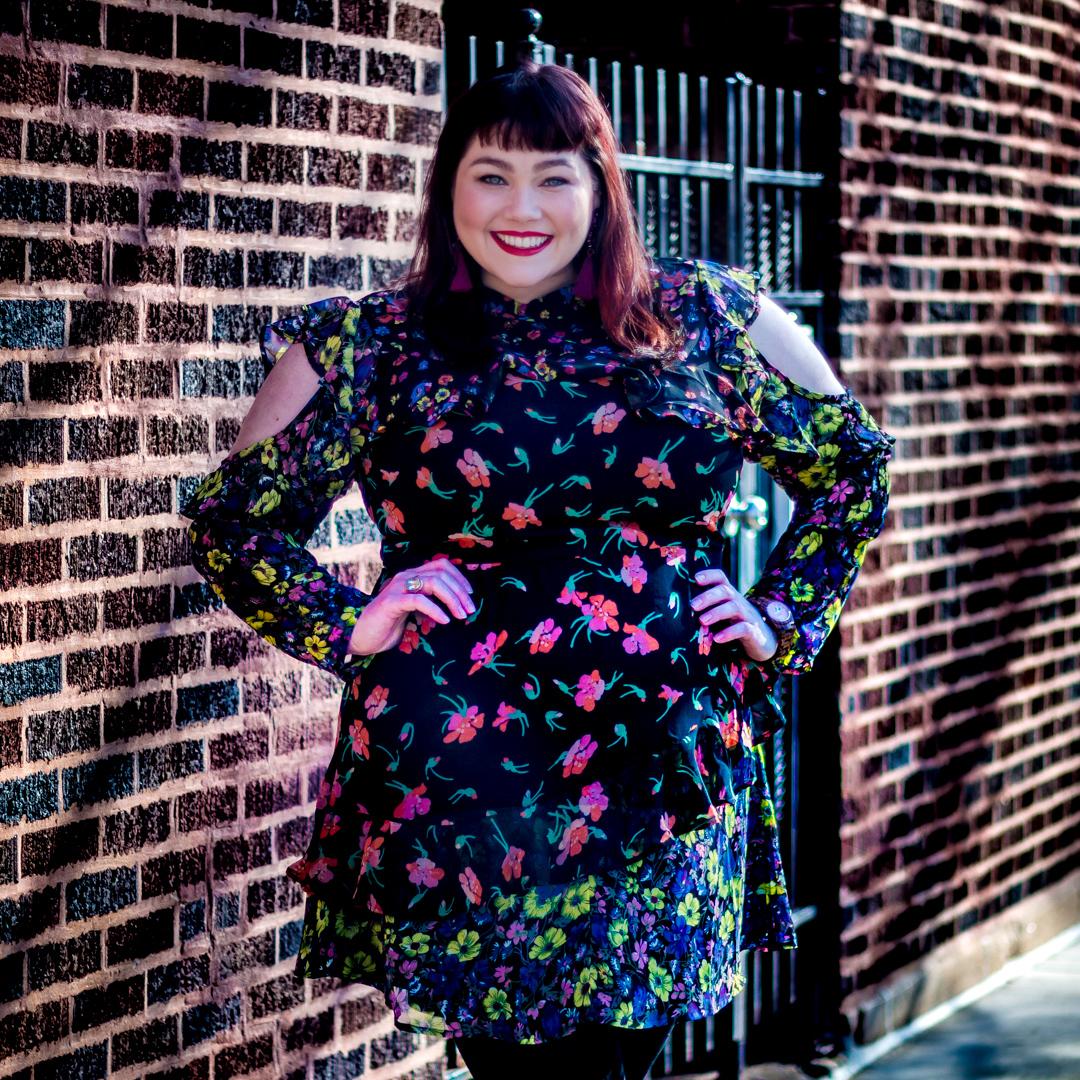 Asos Curve Plus Size Floral Mini Dress