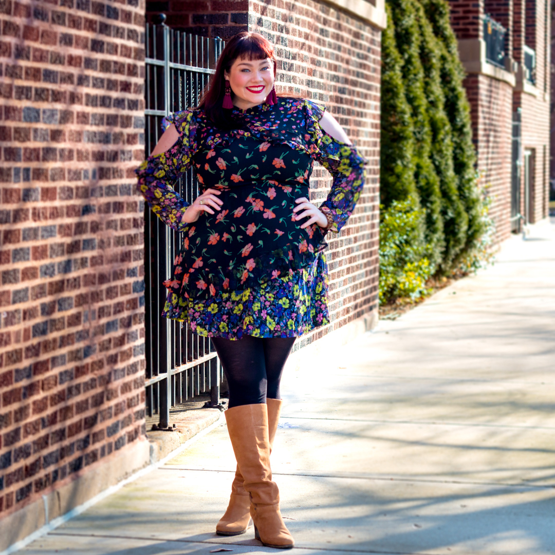 Style Plus Curves in Asos Curve Floral Dress