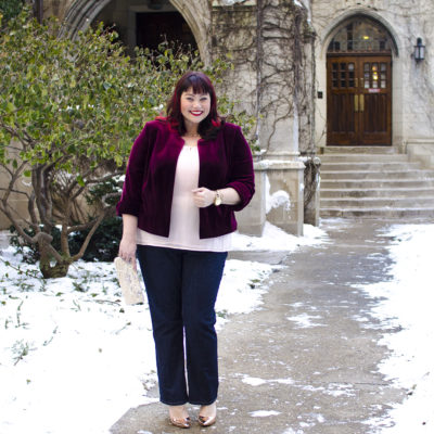 Plus size blogger Amber at Style Plus Curves in Riders by Lee plus size jeans