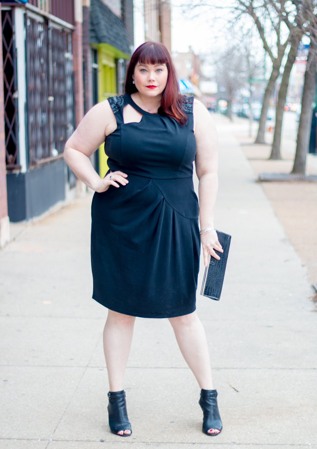 Plus Size Blogger Amber from Style Plus Curves in City Chic LBD from Gwynnie Bee