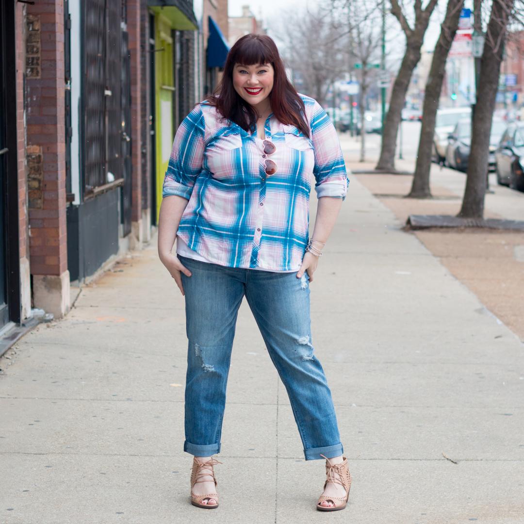 Chicago, Plus Size Blogger, Style Plus Curves, Avenue Plus, Valentine's Day, Plus Size Style, Plaid Top