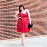 Chicago Plus Size Blogger in City Chic Red Lace Dress