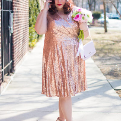 Plus Size Valentine's Style: Pink Sequin Cocktail Dress from Sydney's Closet