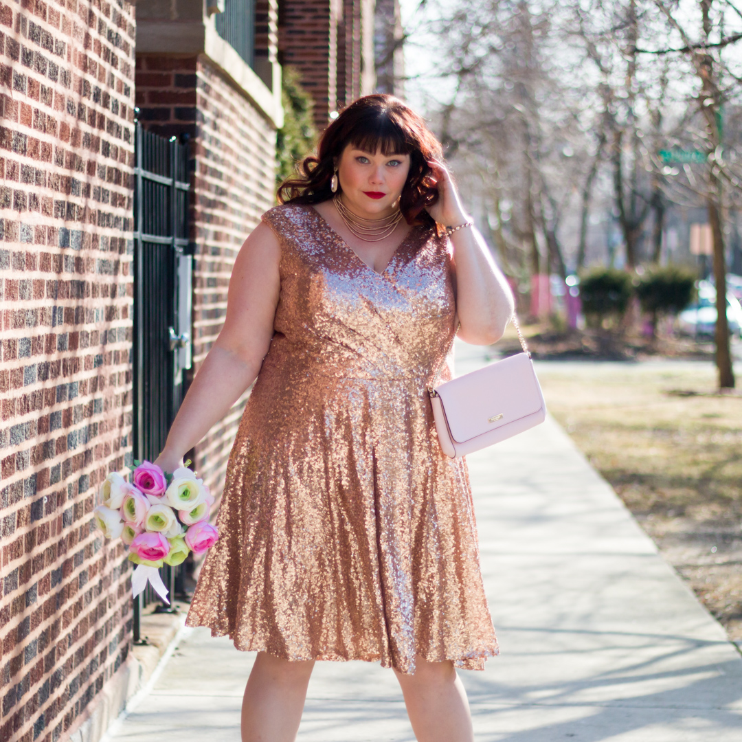 Pink Sequin Plus Size Dress – Fashion dresses