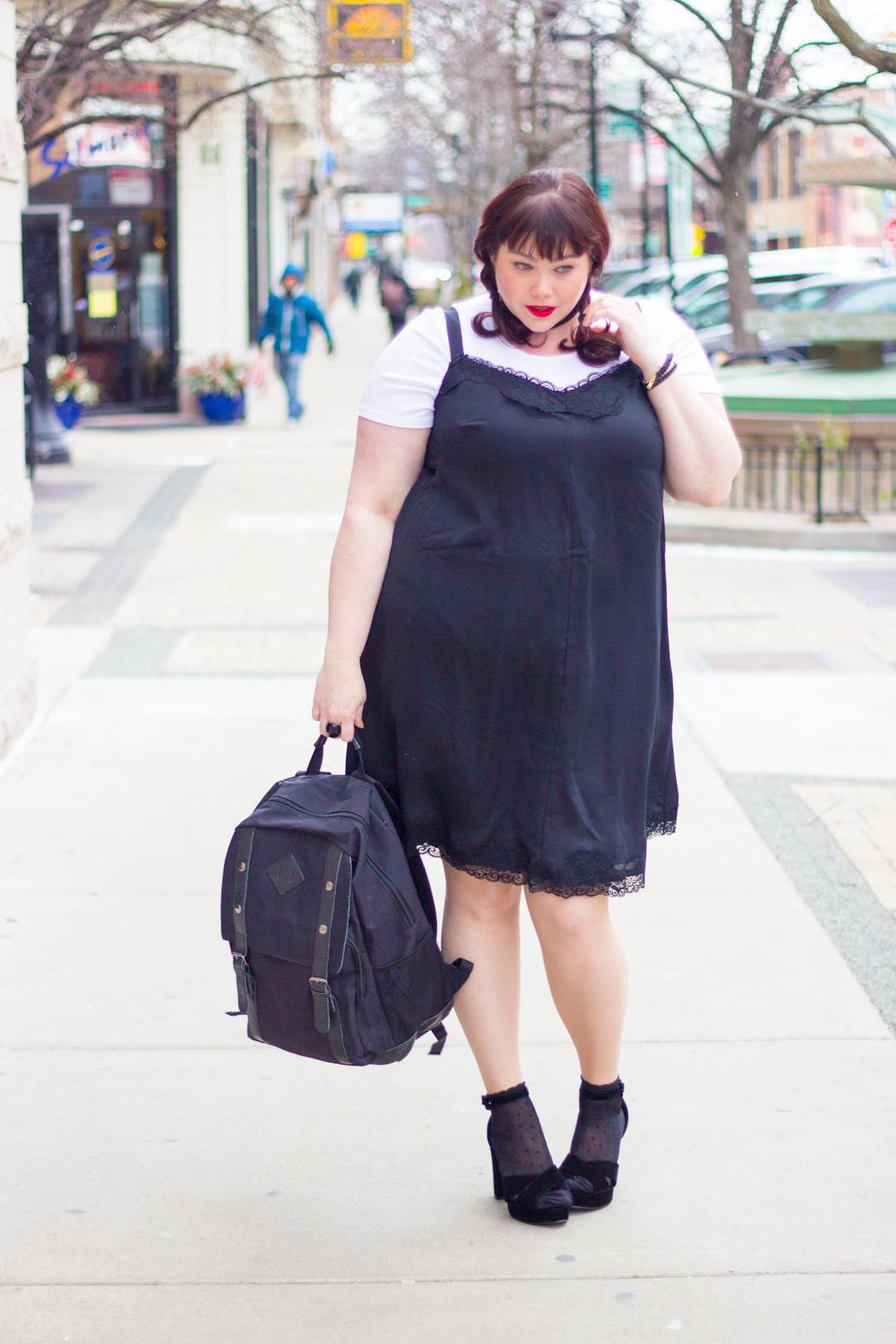 Plus Size Trend Alert 90s Inspired T Shirts Under Slipdresses