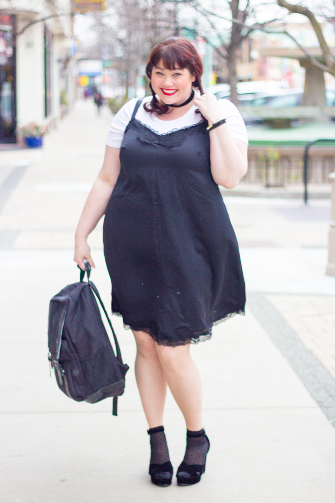 Plus Size Trend Alert: 90s Inspired T-shirts Under Slipdresses
