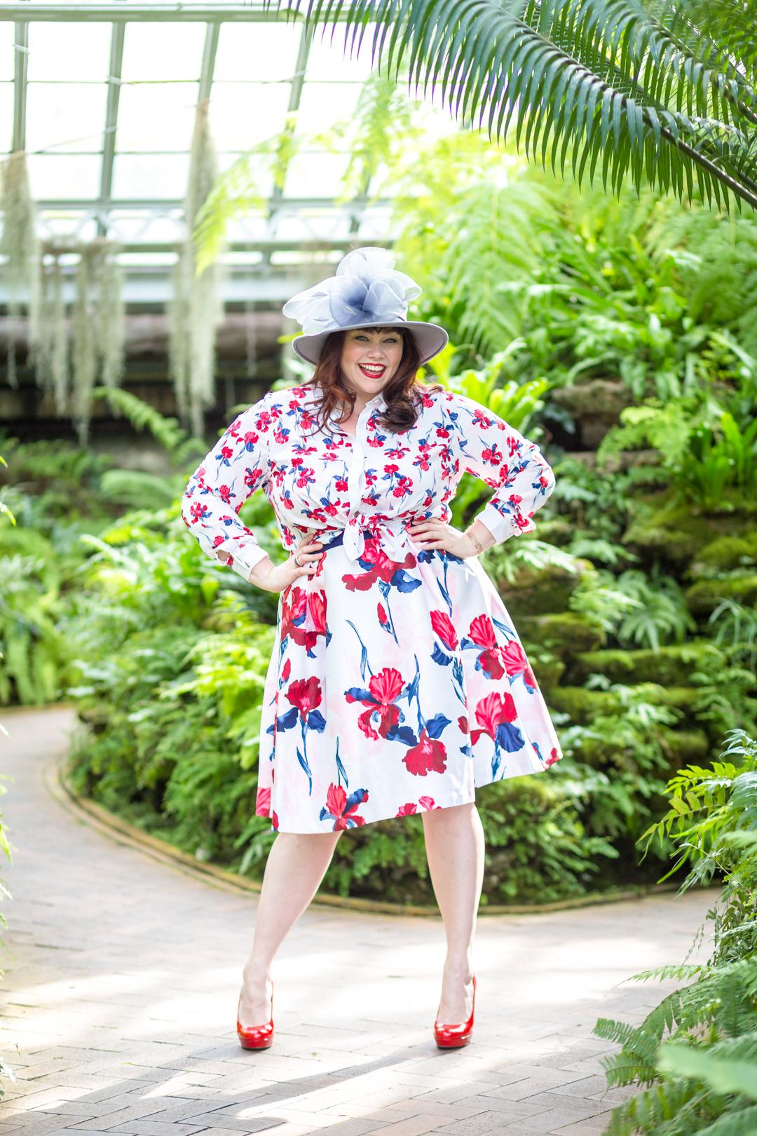 Prabal Gurung x Lane Bryant Floral Blouse and Floral Circle Skirt