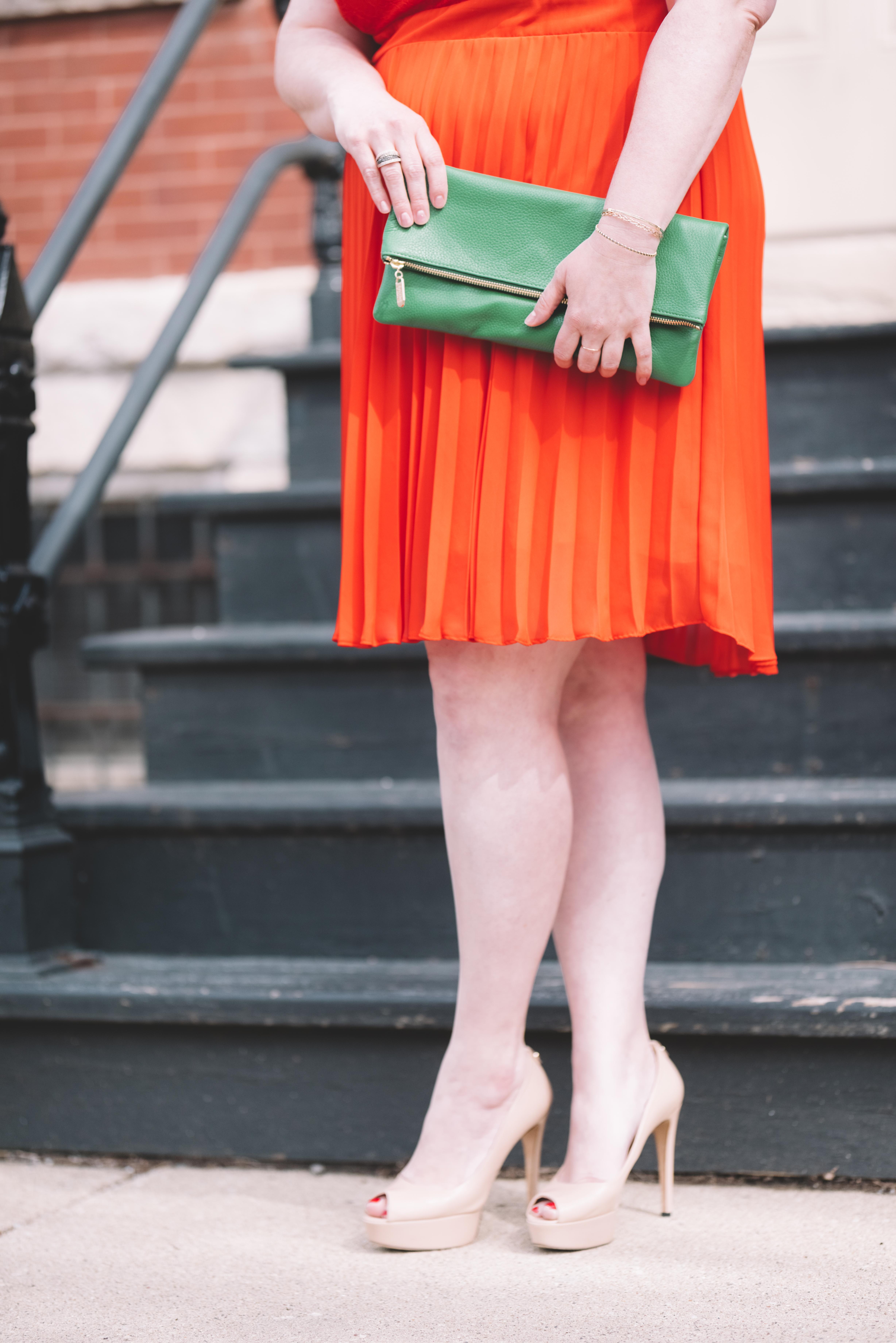 Dolce Clutch in Emerald Green Custom Leather Bag from Laudi Vidni