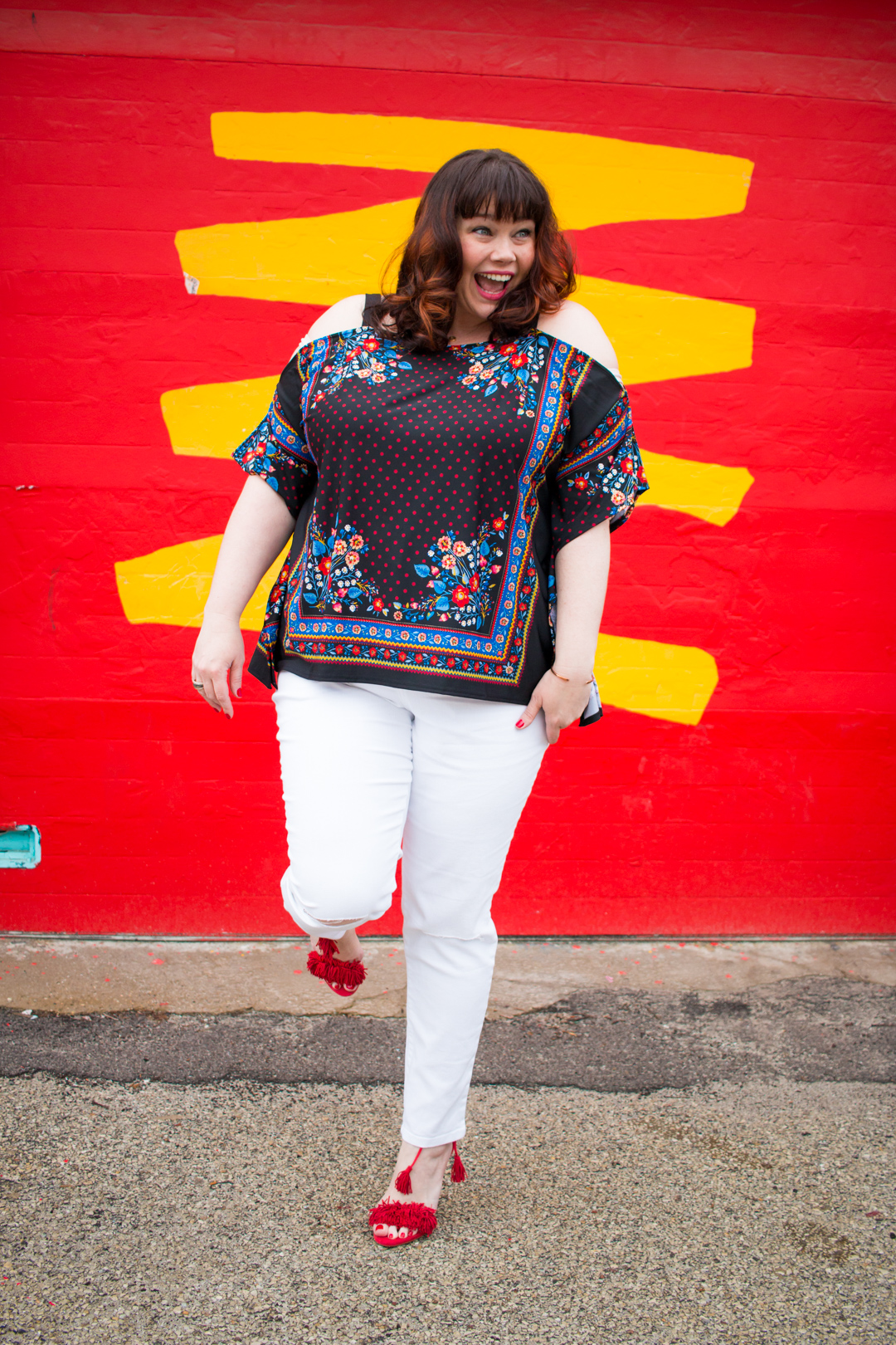 Spring Fashion from Avenue: Bring On the Plus Size White Jeans!