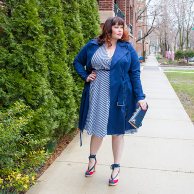 Lane Bryant x Prabal Gurung Plus Size Trench Coat and Wrap Dress