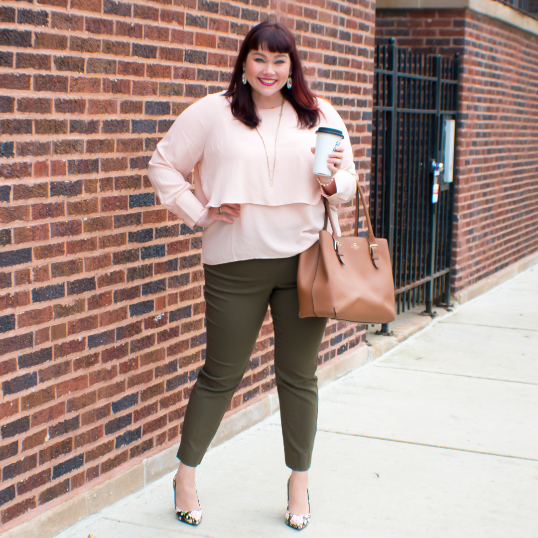 Olive + Blush: Featuring Target Who What Wear Plus Size Collection