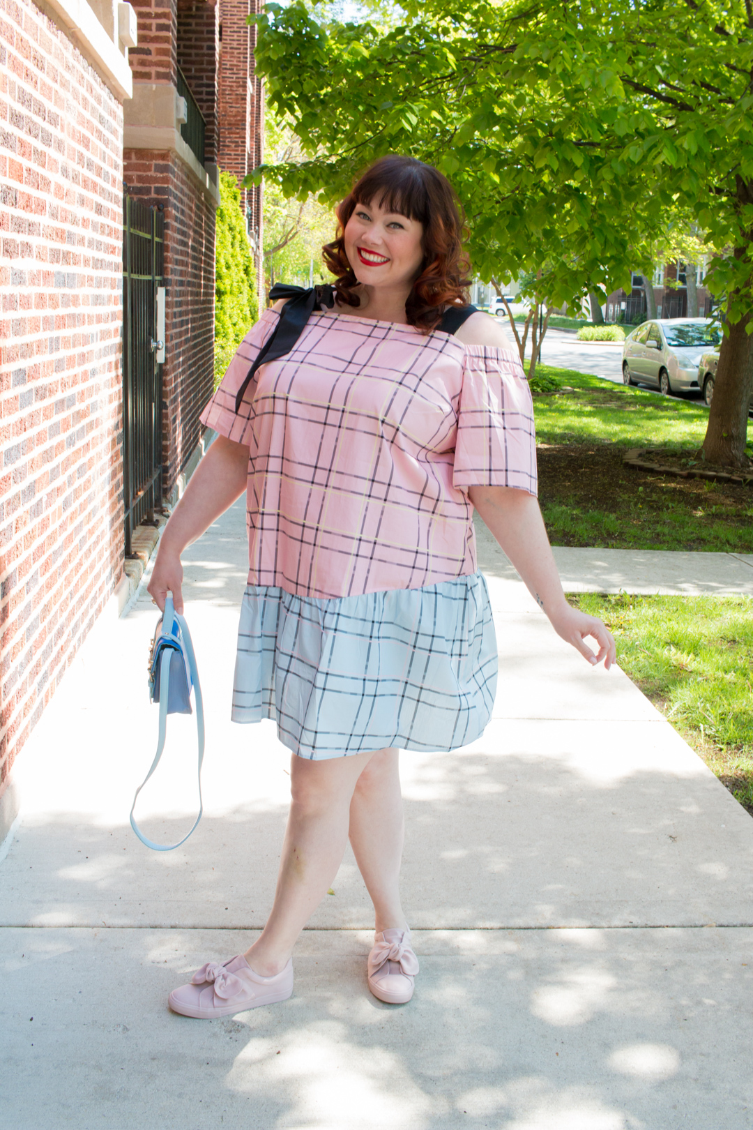 Plus Size Dress: Asos Curve Check Mix and Match Cold ...