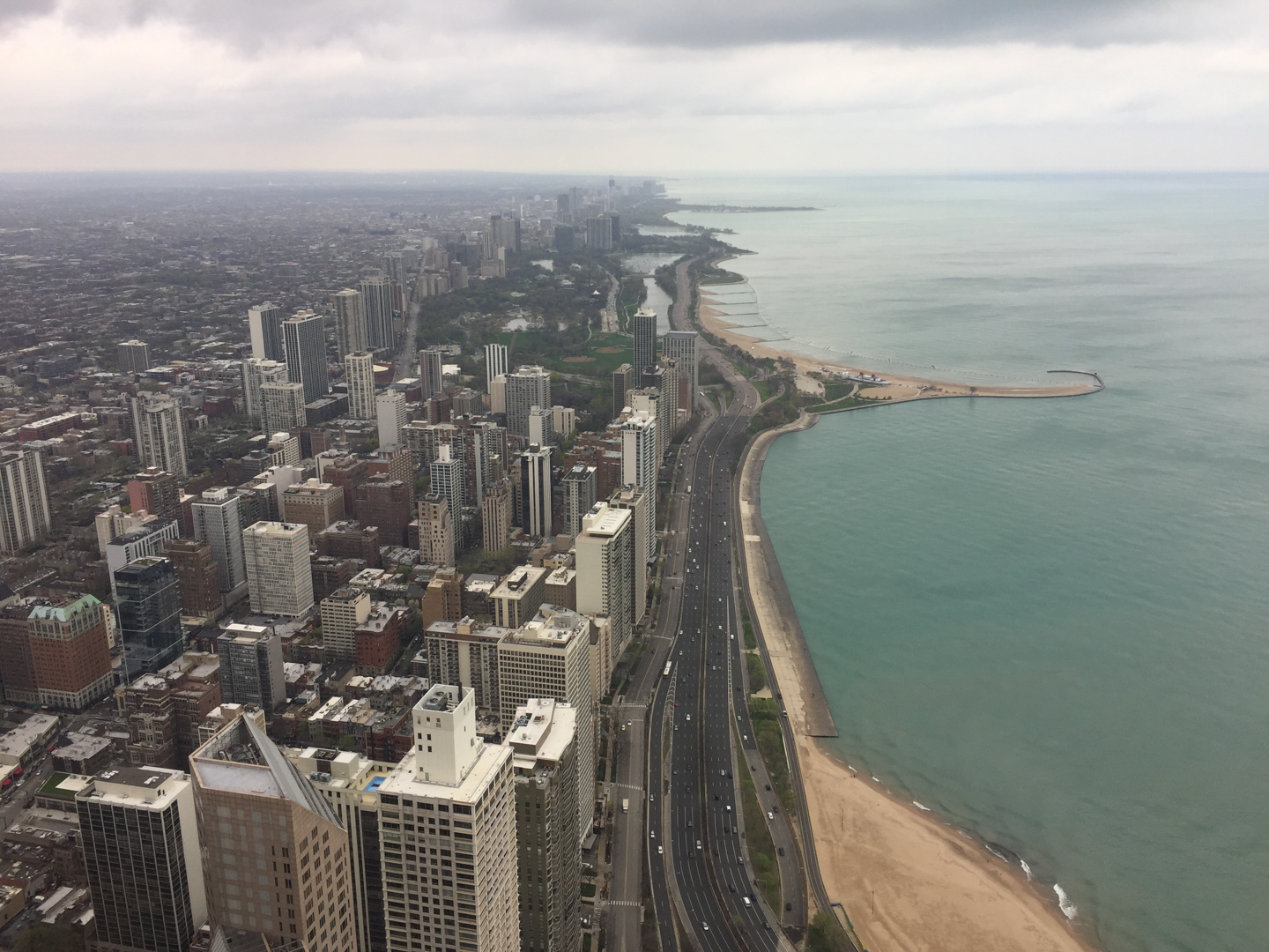 View from 360 Chicago Observation Deck