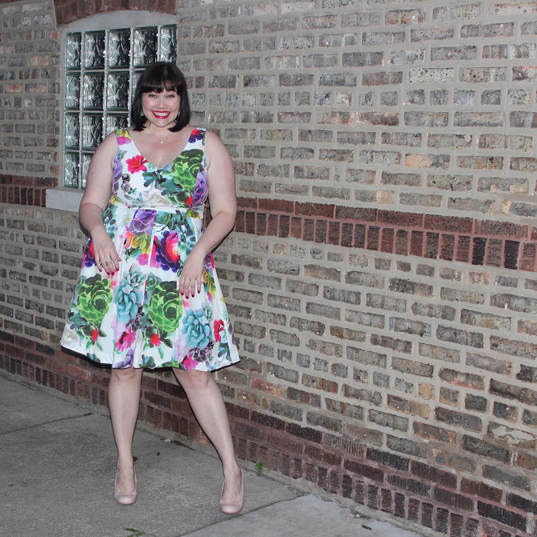 Plus Size Summer Style City Chic Plus Size Succulent Sweetie Dress