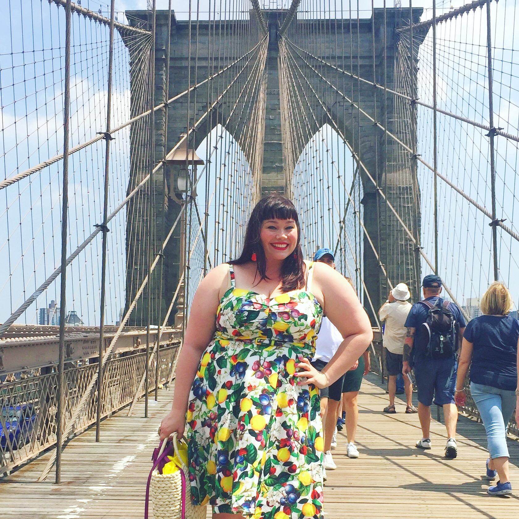Plus Size Summer Style City Chic Fruit Salad Dress