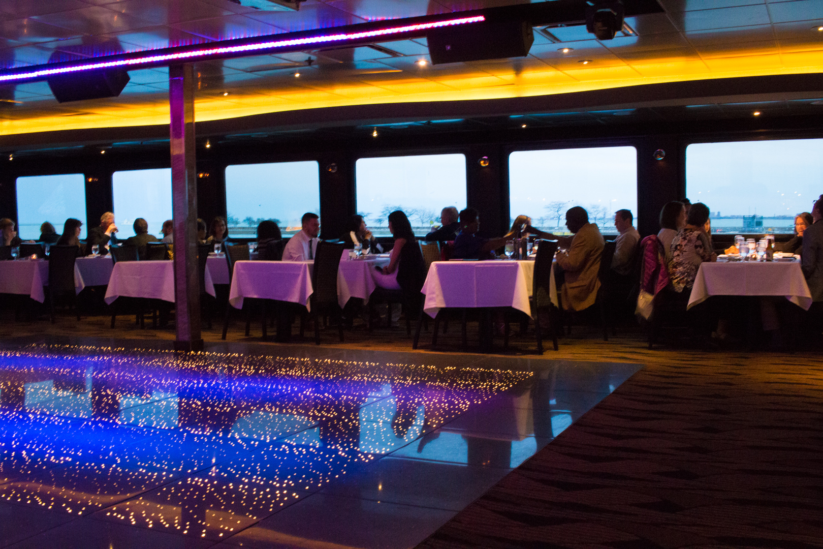Dance Floor aboard Odyssey Boat Cruise Chicago